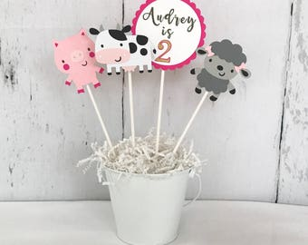 FARM ANIMAL THEME - Centerpiece Sticks - Farm Centerpiece - Farm Theme - Farm Themed Centerpieces - Cowgirl Birthday - Cowgirl Centerpieces