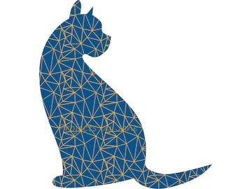 Curious cat applique template | PDF applique pattern | applique template