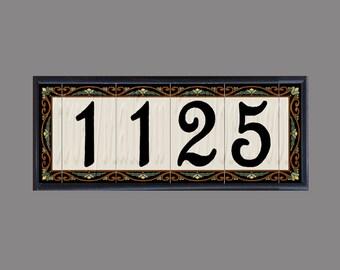 CUSTOM LISTING for JRC - Framed Las Flores Set - 4x8 Number Tiles - 1125