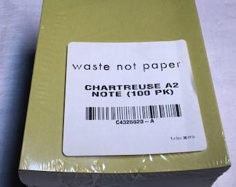 Cartes vierges Foldover Chartreuse verte 100