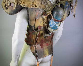 Post Apocalyptic Costume - Burning Man - Wasteland Weekend - Festival Mens Costume - Stage Wear - Wasteland Warrior - Distressed Costume