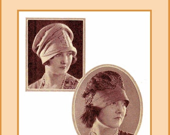 1926 Millinery Book Flapper Roaring 20s Prohibition Hat Making Terms Glossary DIY