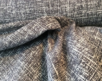 Woven TWEED Dark  GRAY WHITE Upholstery Fabric, 16-22-23-0916