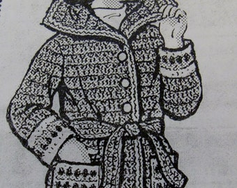 Child's Crocheted Jacket PDF Pattern - Design 685