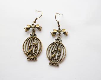 Earrings bird cages