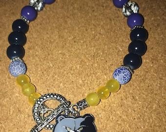 Memphis Grizzlies Beaded Bracelet