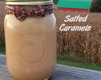 Salted Caramels Soy Candle in 16 oz Jar