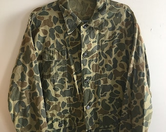 Vintage Button Up Camouflage Jacket / Shirt
