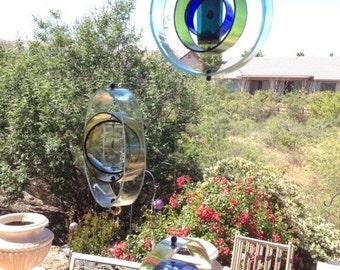 Wine bottle Orb sun catcher wine bottle wind chime