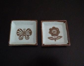Handcrafted Otagiri Original Trinket Trays, Japanese Mini Stoneware Trinket Dishes,