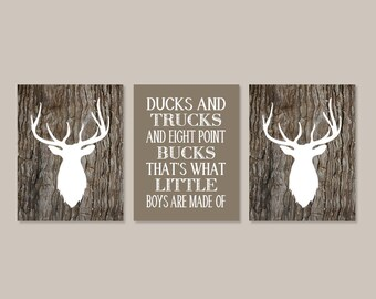 DEER Nursery Decor, Deer Wall Art, Deer Antler Decor, Canvas Or Prints, Boy Deer Nursery Decor, Rustic Nursery Decor, Deer Pictures Set of 3