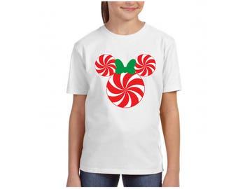 Minnie Peppermint Youth, Disney Shirt, Disney Vacation Shirt, Disney Christmas