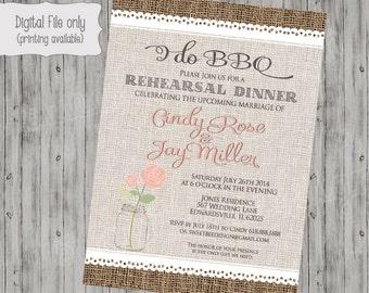 I do BBQ invite, I do BBQ invitation, custom colors, diy printable invite, couples shower invite, Burlap lace
