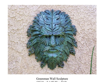 Greenman Wall Sculpture.