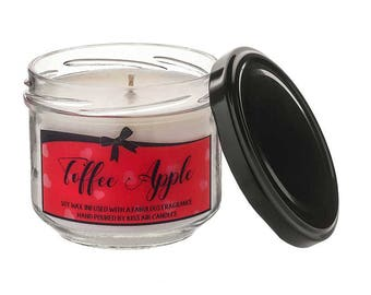 Toffee Apple Candle, Halloween, Fall Candle, Autumn Candle, Soy Wax Candle, Vegan Candle, Halloween Decor,