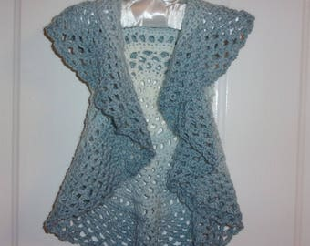Baby Girls Circle Vest ~ Shades of Blue ~ Size 12 - 18 Mos.