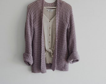 PDF Crochet Pattern for The Perfect Spring Sweater - Oversized Cardigan - Megmade with Love