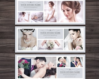 Facebook Timeline Cover Templates for Photoshop 002 - 851px x 315px & 828px x 315px - Photographer Templates - Photography Template