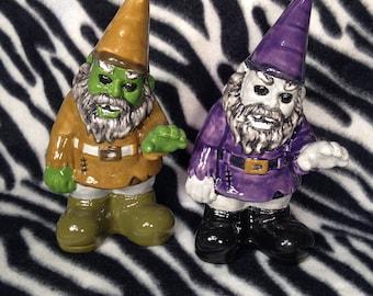 Scary Gary Zombie Gnome Handmade Hand Made OHIO USA Pottery Ceramics Tattoo