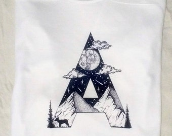 """T-shirt with design """"A"""""""