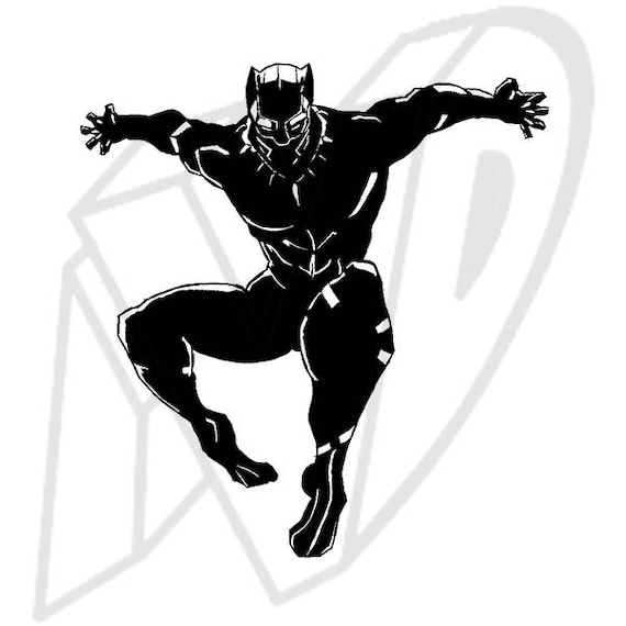 Black panther jumping decal black panther decal wakanda