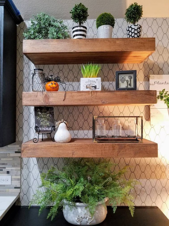 free shipping wood floating shelves 12 inches deep. Black Bedroom Furniture Sets. Home Design Ideas