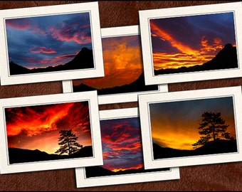 6 Nature Photo Note Cards Handmade - Nature Blank Note Cards With Envelopes - Nature Photo Greeting Cards Handmade Set - 5x7 Cards - (GP65)