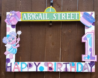 Birthday, Baby Shower, Wedding, Abby Cadabby or any Theme Party Photo Prop Frame