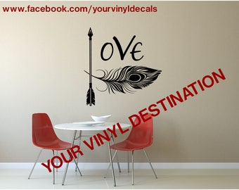 Love Feather Decal