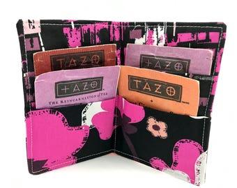 Tea Wallet - Tea Bag Wallet - Tea Bag Case Tea Bag Holder Tea Holder - Tea Bag Cozy Tea Bag Organizer Brave Bloomed in City