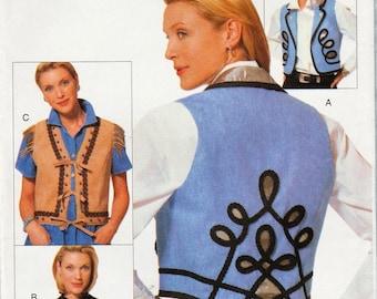 Vogue 9677 / Vintage Sewing Pattern / Embellished Vest / Sizes 12 14 16