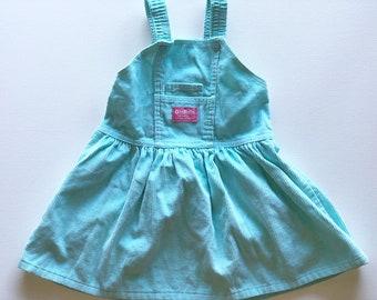 Corduroy Teal Osh Kosh Dress Size 4T