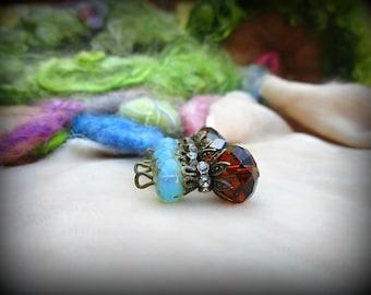 Charms, Beaded, Set of 5, Handmade, Craft Supplies, Earrings