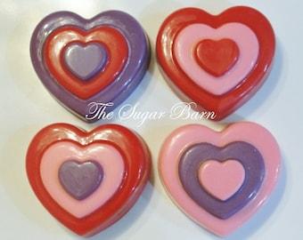 HEART CHOCOLATE Oreo® COOKIES*10 Count*3-Tier Valentine Cookie*Valentines Day Gift*Boyfriend Gift*Girlfriend Gift*Chocolate Party Favor