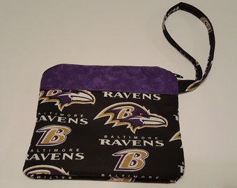 NFL Baltimore Ravens Wristlet Sports Embroidered Monogrammed