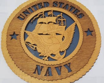 Navy Ship Wall Plaque Wooden Model