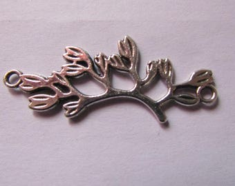 silver connector branch tree 38mmx16mm