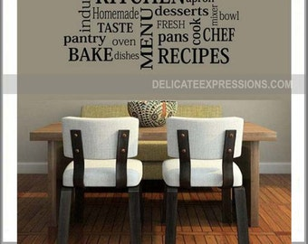 Kitchen Wall Decal Kitchen Decor Kitchen Subway Wall Decal Kitchen Art Kitchen Dining Room Wall Decal Wall Decor Kitchen Subway Art