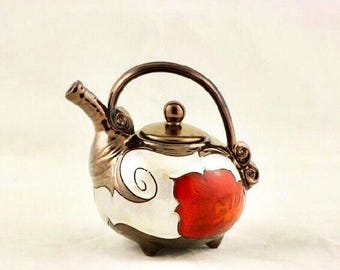 Easter gift, Mother's day Gift, Ceramic teapot, Pottery Teapot, Gift for her, Small teapot, One man teapot, Stoneware teapot,
