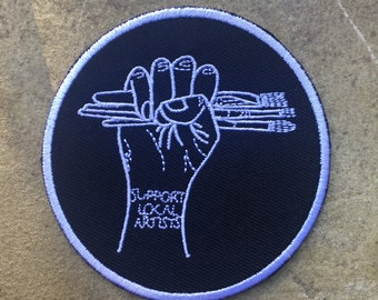 Support Local Artist - Machine Embroidered Sew On Patch