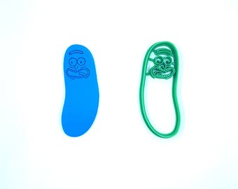Pickle Rick Cookie Cutter - Rick and Morty Cookie Cutter- Bakery Cookie Cutter - Clay Cutter - Fondant Cutter - FunOrders -Fathers Day Gift