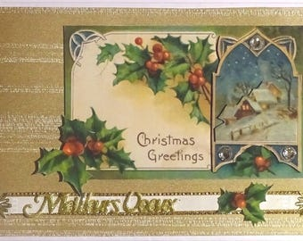 A beautiful bouquet of Holly accompanies your best wishes! new year good year-best wishes-