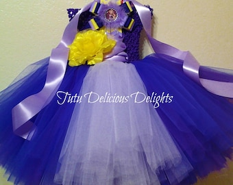 Tangled Inspired  Tutu Dress, Rapunzel Tutu Dress, Purple Tutu Dress, Princess Tutu Dress, Kids Birthday Tutus, Rapunzel Party