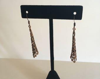 Copper woven earrings