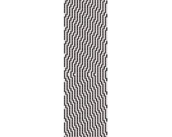 Black Stripes Peyote Cuff Bracelet Pattern