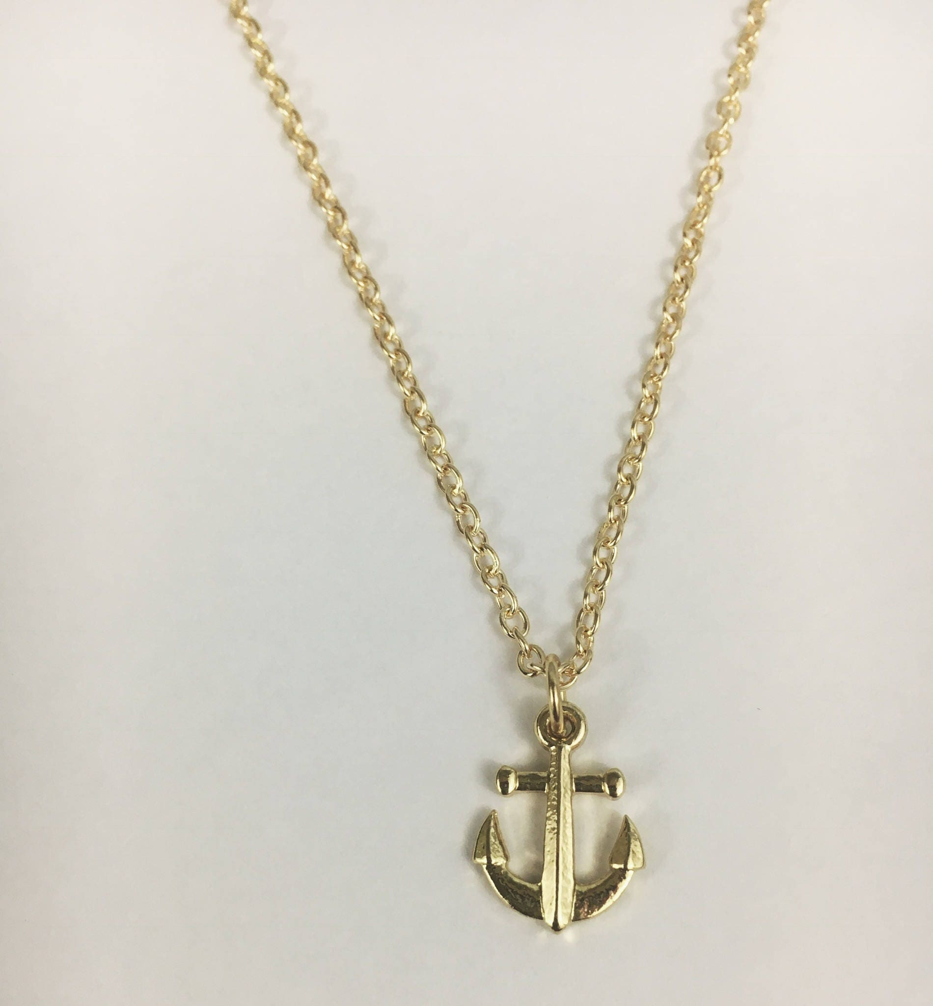 set pendant anchor products chain sail hooligan gold in image dainty necklace boutique