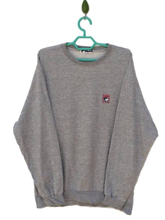 FILA spellout logo zipper sweatshirt / mode nella vita sportiva Italia // sweater // bjorn borg // fila sport asap rocky / medium size qfxl2d6Q2