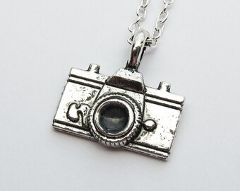 Antique Silver Camera Necklace  (R2D2)