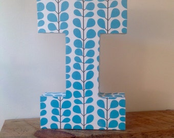 Upcycled cardboard capital letter