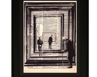 "Timeline"".Dictionary Art Print. Vintage Upcycled Antique Book Page. Fits 8""x10"" frame"
